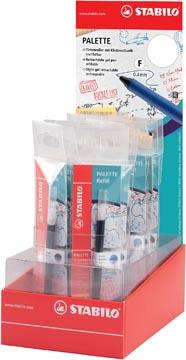 STABILO PALETTE roller à encre gel, recharge, 0,4 mm, présentoir de 20 pièces en couleurs assorties