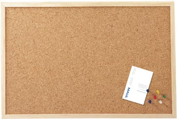 Maul kurkbord met houten frame ft 60 x 80 cm