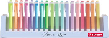 STABILO swing cool pastel markeerstift, deskset van 18 stuks in geassorteerde kleuren
