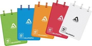 Adoc carnet de notes Colorlines, ft A7, quadrillé 5 mm, couleurs assorties