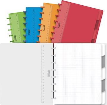 Adoc Colorlines cahier, ft A5, 144 pages,commercieel quadrillé, couleurs assorties
