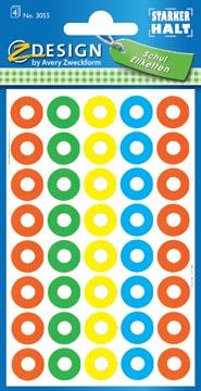 Avery Oeillets de renforcement couleurs assorties