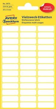 Avery Etiquettes blanches ft 20 x 8 mm (l x h), 234 pièces