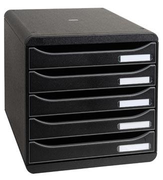 Exacompta ladenblok Big-Box Plus Classic, zwart