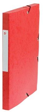 Pergamy elastobox, rug van 2,5 cm, rood