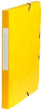 Pergamy elastobox, rug van 2,5 cm, geel