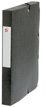 Pergamy elastobox, rug van 4 cm, zwart