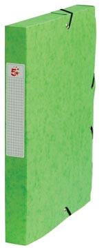 Pergamy elastobox, rug van 4 cm, groen