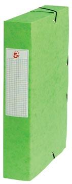 Pergamy elastobox, rug van 6 cm, groen