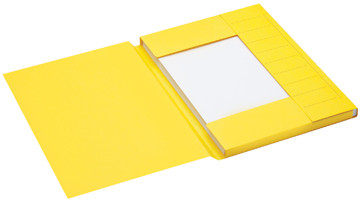Jalema Secolor dossiermap voor ft A4 uit karton, geel, pak van 25 stuks