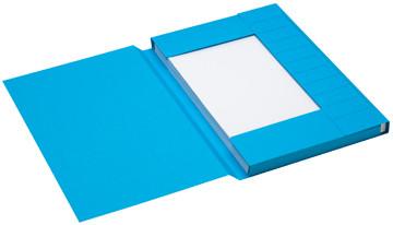 Jalema Secolor dossiermap voor ft folio uit karton, blauw, pak van 25 stuks