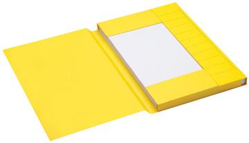 Jalema Secolor dossiermap voor ft folio uit karton, geel, pak van 25 stuks