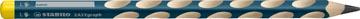 STABILO EASYgraph potlood, HB, 3,15 mm, voor linkshandigen, petrol