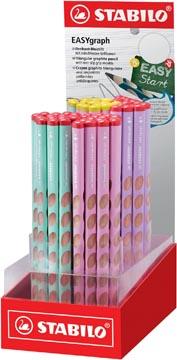 STABILO EASYgraph Pastel crayon, HB, 3,15 mm, présentoir de 60 pièces en couleurs assorties