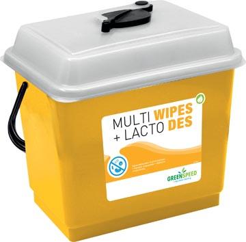 Greenspeed navulpakket Multi Wipes (3x250st) en Lacto Des