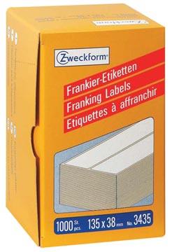Avery Zweckform étiquettes d'affranchissement ft 135 x 38 mm, boîte de 1000 pièces