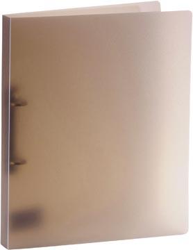Bronyl classeur à anneaux, pour ft A4, en PP, 2 anneaux en D de 15 mm, gris transparent