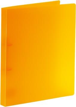 Bronyl classeur à anneaux, pour ft A4, en PP, 2 anneaux en D de 15 mm, orange transparent