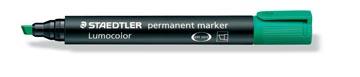 Staedtler permanente marker groen, schrijfbreedte 2 - 5 mm, schuine punt