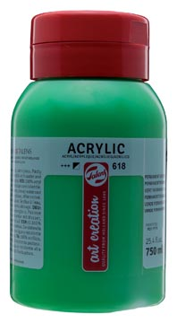 Talens Art Creation peinture acrylique flacon de 750 ml, vert permanent clair
