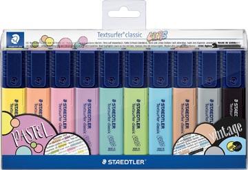 Staedtler surligneur Textsurfer Classic, étui avec 10 couleurs vintage & pastel