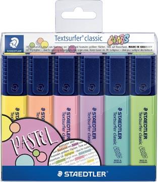Staedtler surligneur Textsurfer Classic, étui avec 6 couleurs pastel