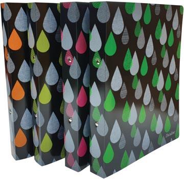 Bronyl classeur à anneaux Drops, pour ft A4, en PP, anneaux de 25 mm, couleurs assorties