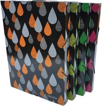 Bronyl boîte de classement Drops, pour ft A4, en PP, couleurs assorties