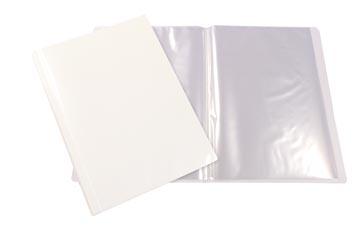 Beautone protège documents personnalisable, A4, 100 pochettes, blanc
