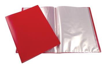 Beautone protège documents, A4, 40 pochettes, rouge