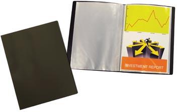 Beautone showalbum, A4, 40 tassen, zwart