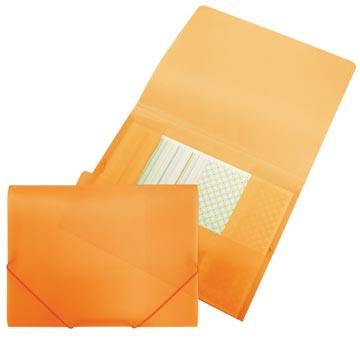 Beautone Chemise à rabats et élastiques, orange