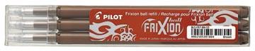 Pilot vullingen voor Frixion Ball en Frixion Ball Clicker, bruin , etui met 3 stuks