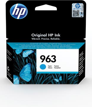 HP cartouche d'encre 963, 700 pages, OEM 3JA23AE, cyan