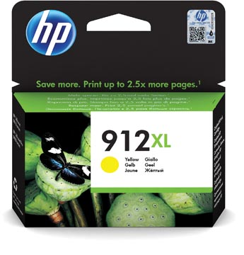 HP cartouche d'encre 912XL, 825 pages, OEM 3YL83AE#BGX, jaune