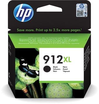 HP cartouche d'encre 912XL, 825 pages, OEM 3YL84AE#BGX, noir
