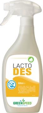 Greenspeed désinfectant Lacto Des, sans odeur, flacon de 500 ml