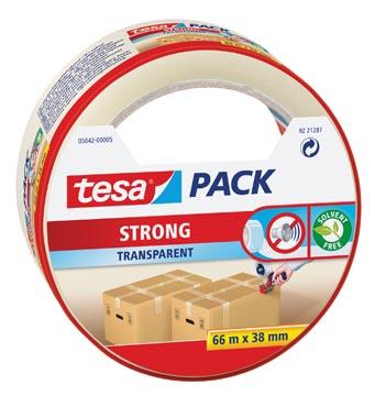 Tesa verpakkingsplakband Strong, ft 38 mm x 66 m, PP, transparant