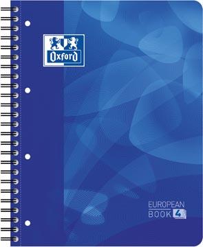 Oxford School Projectbook cahier à reliure, ft A4+, 4 trous, ligné, bleu
