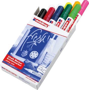 Edding krijtmarker e-4095, geassorteerde kleuren, doos van 10 stuks