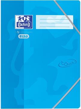 Oxford Touch elastomap uit karton, ft A4, blauw