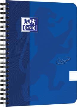 Oxford Touch spiraalblok, ft A5, 140 bladzijden, blauw, gelijnd