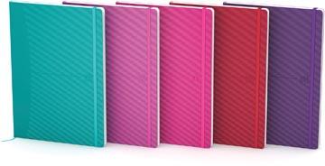 Oxford Signature Business Journal met flexibele kaft, ft A5, geruit 5 mm, geassorteerde felle kleuren
