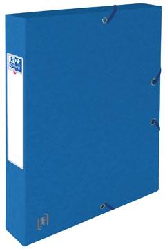 Elba elastobox Oxford Top File+ rug van 4 cm, blauw