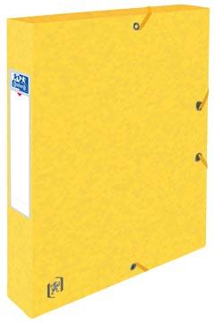 Elba elastobox Oxford Top File+ rug van 4 cm, geel