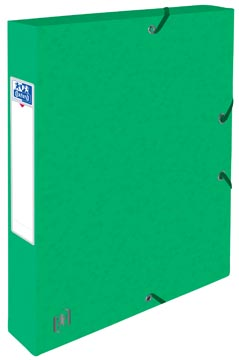 Elba elastobox Oxford Top File+ rug van 4 cm, groen
