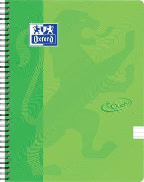 Oxford Touch cahier spiralé, ft A4, 140 pages, vert lime, ligné