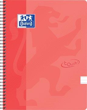 Oxford Touch cahier spiralé, ft A4, 140 pages, orange, ligné