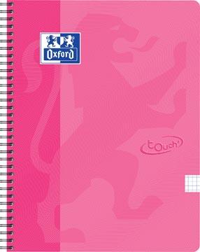 Oxford School Touch bloc spirale, ft A4, 140 pages, quadrillé 5 mm, rose