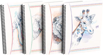 Oxford Boho Chic cahier spiralé, ft A5, 120 pages, ligné, couleurs assorties